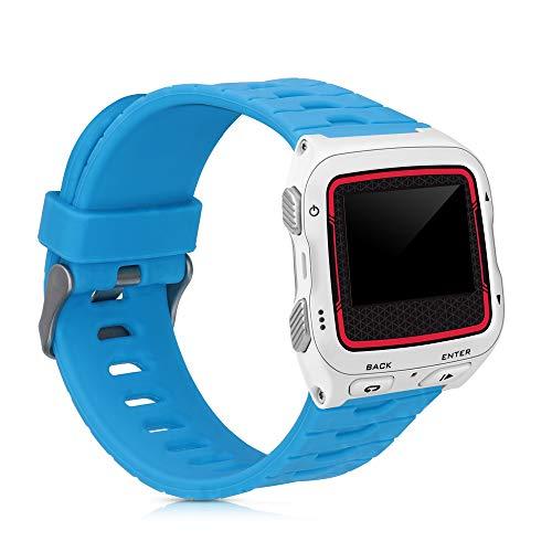 kwmobile Brazalete Compatible con Garmin Forerunner 920XT - Pulsera de Silicona en Azul sin Fitness Tracker