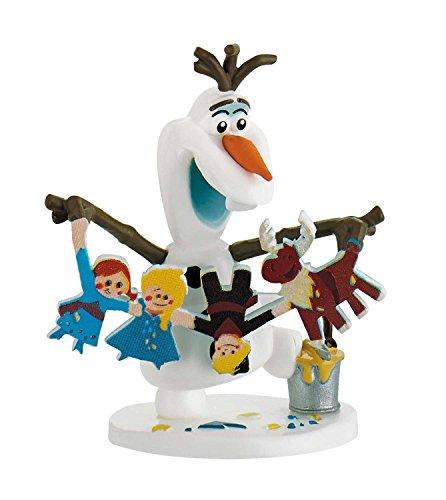 Bullyland 13431 - Disney Olafs Frozen Adventure, Anne met Charm speelfiguur Olaf met slinger