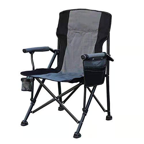 HBOY Mochila portátil ligera para acampar al aire libre, plegable, impermeable, tela Oxford, respaldo para pesca, senderismo, picnic, viaje, barbacoa, color gris