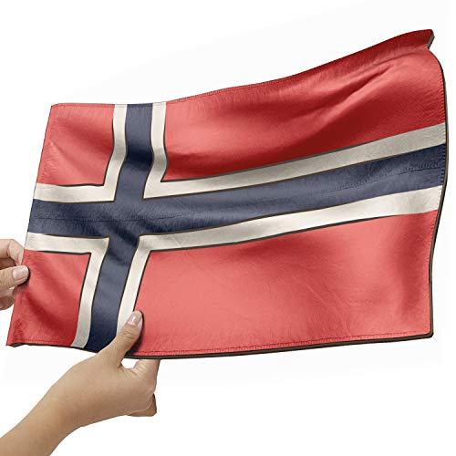 Norwegen Flagge als Lampe aus Holz - schenke deine individuelle Norwegen Fahne - kreativer Dekoartikel aus Echtholz