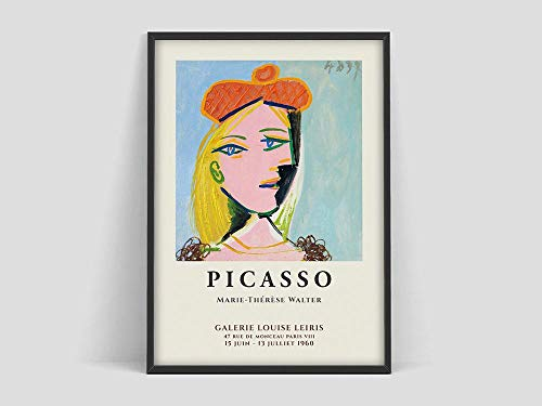 Pablo Picasso (Pablo Picasso) Marie Therese (Marie Therese) poster,art exhibition printing,museum exhibition art,Picasso studio painting poster,ArHenrtisse family frameless decoration A18 60x90cm
