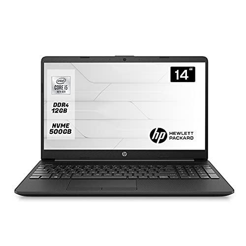 HP 240 G8, Notebook  14  pollici pc portatile Intel i5 1035g1 fino a 3.60Ghz Display 14  FULL HD,12Gb Ram ddr4, Ssd NVMe 500GB,computer portatile Windows 10 Professional