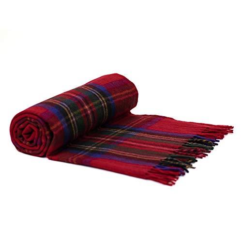 Border Tweeds Picknickdecke/Tagesdecke/Teppich, Schottenkaro, 100prozent Wolle, Mehrfarbig - Tartanmuster