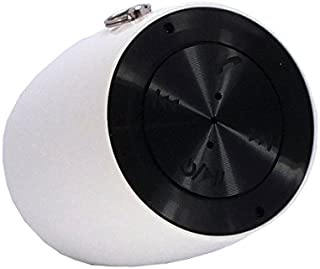 CyberTech [Portable Ultra Light] Mini Drum Bluetooth Speaker with Selfie Camera Feature, Ability to Answer/Hang-up/redial/Refuse Calls with The Push of a Button (White)