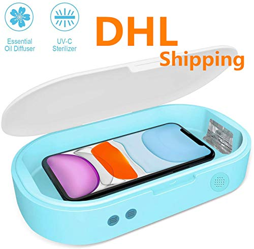 Cell Phone UV Sanitizer, Portable Smart Phone UV Light Sanitizer Cleaner Aromatherapy Function Disinfector, Phone Cleaner Box for All iPhone Android Cellphone Toothbrush Salon Tools Jewelry Watches