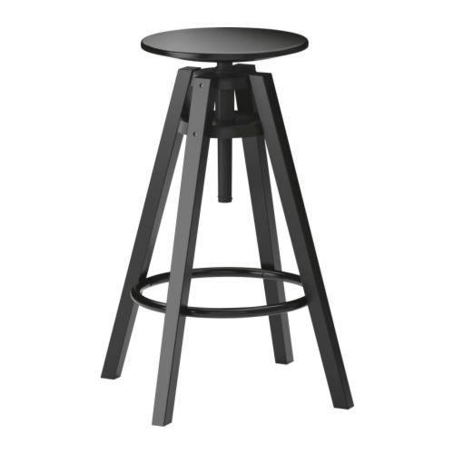 IKEA DALFRED - Taburete de Bar, Color Negro
