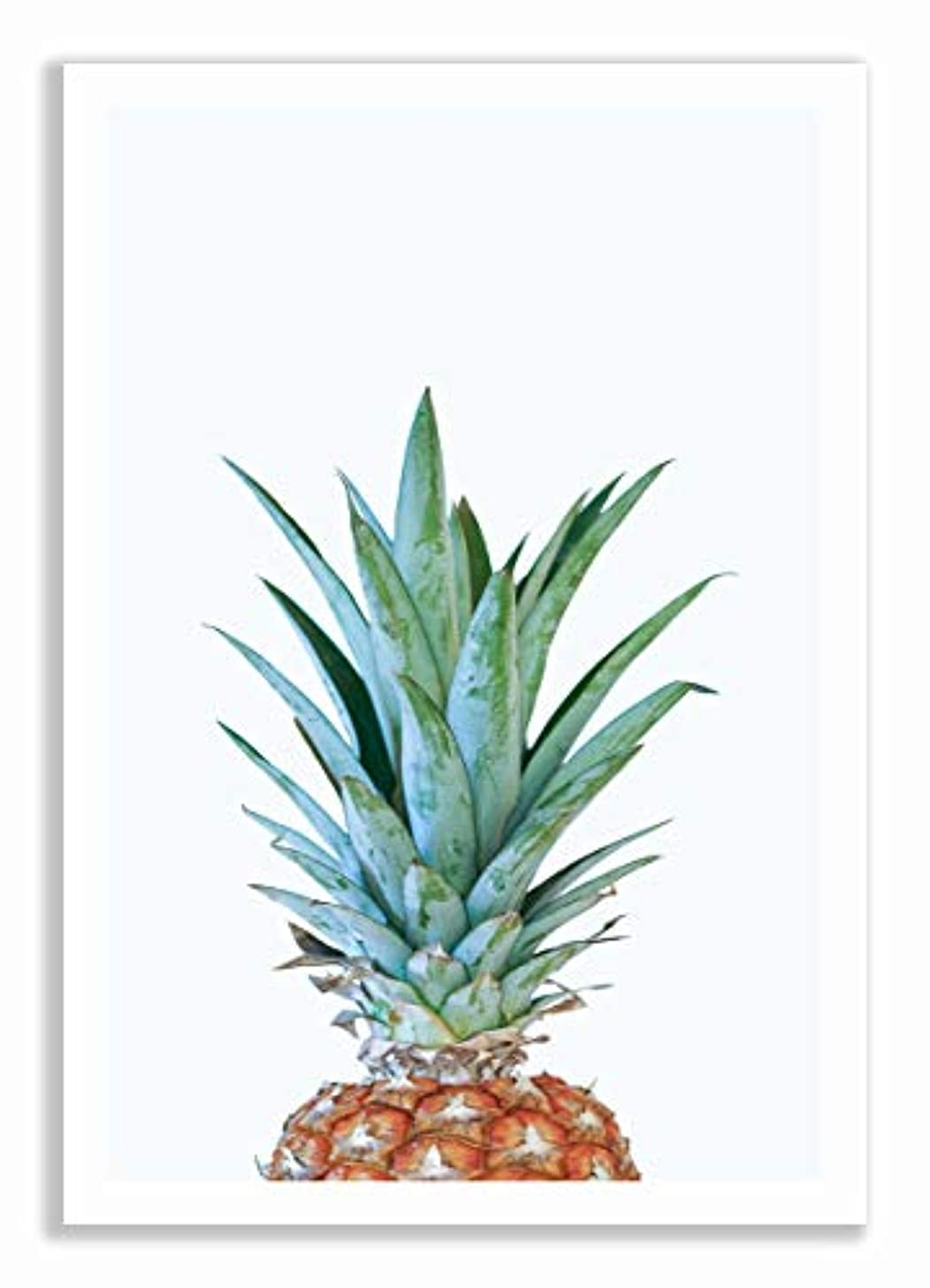 Minimal Pineapple Natural Solid Oak Frame with Mount, Multicolored, 50x70