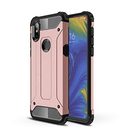 AOBOK Funda Xiaomi Mi Mix 3, Oro Rosa Moda Armadura Híbrida Carcasa Shock Absorción Proteccion, Anti-Scratch, Funda Case para Xiaomi Mi Mix 3 Smartphone