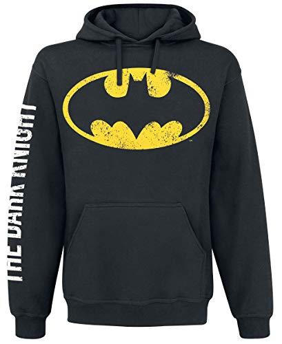 Batman The Dark Knight Uomo Felpa con Cappuccio Nero M 65% Cotone, 35% Poliestere Regular