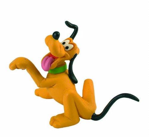 Bullyland 15347 - Figura de Juego, Walt Disney Pluto, Aprox. 6 cm de Altura, Figura Pintada a Mano, sin PVC, para Que los niños jueguen de Forma imaginativa