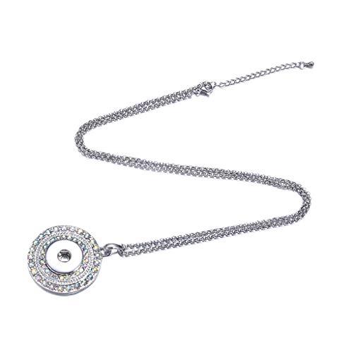 chiwanji Frauen Mädchen 60cm Sparkle Noosa Style Druckknopf Halskette Choker Geschenke