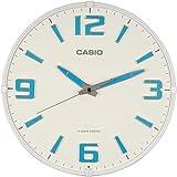 CASIO(カシオ) 掛け時計 電波 ホワイト 直径30.8cm アナログ 蓄光 夜間秒針停止 掛け具セット