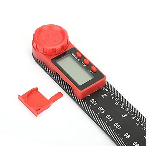 Regla de buscador de ángulo de fibra de carbono precisa, buscador de ángulo de 200 mm de alta resolución, para construcción de carpintería