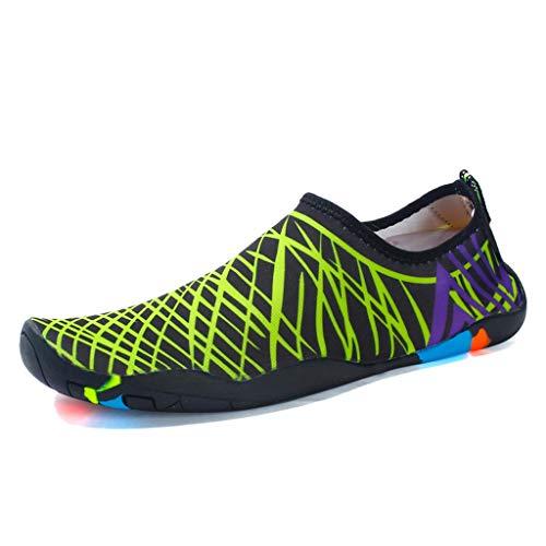 ZZABC SHTAXJWXW Hombres Zapatos de Mujer de Secado rápido Sneakers Lover Sneakers Love Upstream Zapatillas Planas Ligeras al Aire Libre Slip-on Beach Sneakers (Color : C, Size : 35)