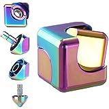 Fidget Spinner, Cubo dedo Spinner vuelta Estabilidad dedo de la aleación de Spin Cube 3 Min de alta velocidad Silencio vuelta superior de la calidad CNC metálico Foco juguete for niños y adultos