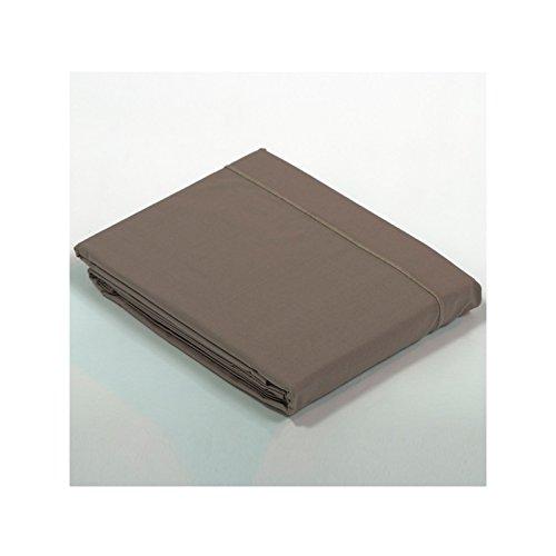 Drap Plat Percale 270x300 - Couleur: Taupe