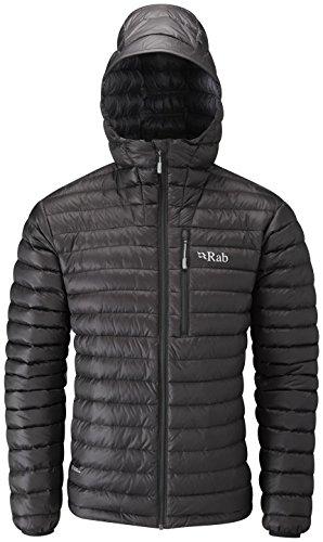 RAB Men's Microlight Alpine Jacket - Black/Shark - Medium