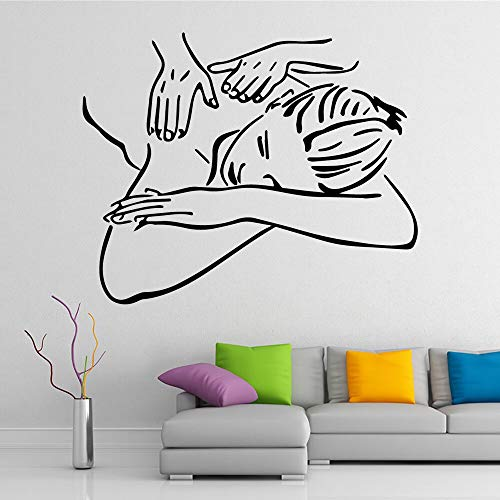 Lindo masaje pegatinas de arte de pared pegatinas de pared modernas pegatinas de vinilo para sala de estar decoración de oficina pegatinas de pared A5 M 28x34cm