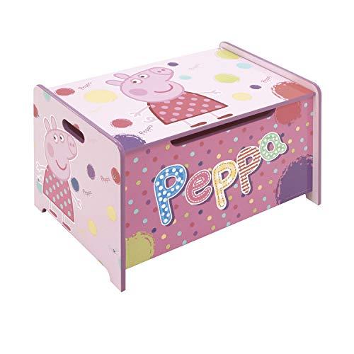 ARDITEX PP8378 Banco Juguetero de Madera de 62.5x40x37cm de EONE-Peppa Pig