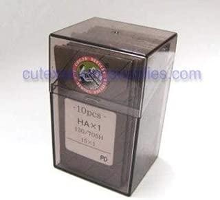100 Organ 15X1 HAX1 Titanium Flat Shank Home Sewing Machine Needles (Size 12 (Metric Size 80))