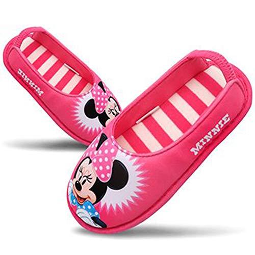 [Joah Shop] ミニーマウス 女の子 子供用 軽量 室内履き キッズ スリッパ ルームシューズ (16.0 cm) [並行輸入品]