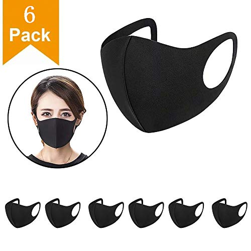 Black Breathing Mask for running sports dust and air pollution pollen allergies...