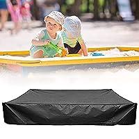 引きひも付きサンドボックスカバー、正方形の防塵砂&おもちゃカバー、砂場プールカバー保護キャノピーおもちゃ、砂場プールカバー (Color : Black, Size : 150x150cm)
