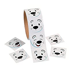Polar Bear Face Stickers Round Stickers