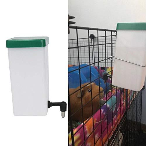 Gorgebuy-es Dispensador de 1L Fuente de Agua Tipo Bola rodante antigoteo, chupetes antigoteo y Anti-masticación Fuente de Agua automática para Mascotas, fácil de ensamblar y Rellenar para Conejos de