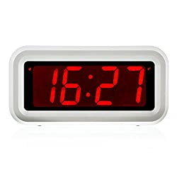 Kwanwa Digital LED Alarm Clock Battery Powered only with Big Numbers Display for Girls Kids Bedrooms