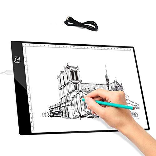 Mesa De Luz De Dibujo Tableta De Dibujo Led Copiar Almohadillas De Dibujo Luz Led Tableta De Escala Digital Escritura Pintura Arte Tablero De Dibujo Artcraft A4 Tabla De Copia