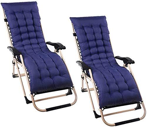 Lovemorebuy - 2 cuscini per lettino da sole, 120 x 48 cm, cuscino chaise lounge, per giardino, patio, relax e relax per viaggi, vacanze, giardino, interno ed esterno, colore: blu