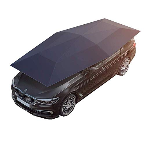LLSS Car Mobile Hood Parasol Car Clothing Car Cover Car Shed Sun Shade Umbrella Cover Folding Car Cover Sunscreen Insulation Oxford Cloth Protect From Dust Acid Rain