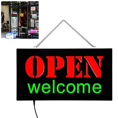 WINBST LED Leuchtschild Leuchttafel Werbeschild Leuchtreklame Schild Neon Licht Fenster Tür Hang Sign Leuchtschild Open