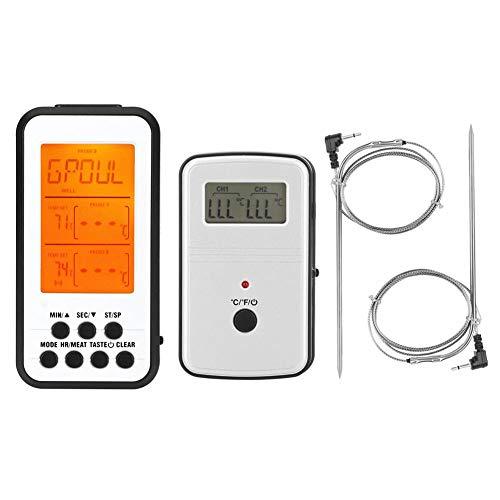 TOPINCN dubbele sonde voedsel thermometer digitale draadloze vlees thermometer met tellen en countdown alarm voor koken bakken BBQ grill