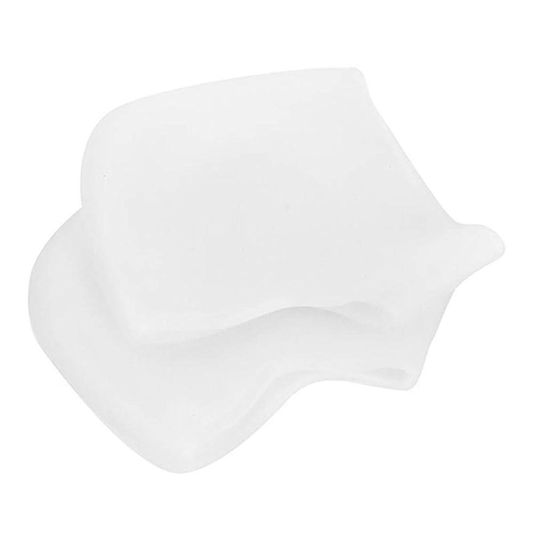 かわいらしい焦がす奨励足底筋膜炎の痛みを軽減するヒールプロテクター、乾燥したひび割れた足用のジェル&ファブリックヒールスリーブ、快適なヒールクッションカップ