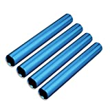XMWangzi Aluminum Track Field Relay Batons, Race Equipments for Running Race Team, Suitable for Outdoor Sports Practice Athlete, Corrosion Resistant High Strength Smooth Surface (4Pcs Blue)