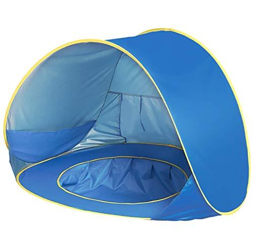 Pop Up Strandmuschel,Shayson Automatisches Strandzelt mit UV-Schutz 50+ für 1-2 Kinder, auch als Sonnenzelt oder EIN Sonnenschirm