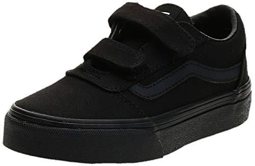 Vans Ward V-Velcro Sneaker, Schwarz ((Canvas) Black/Black 186), 38 EU