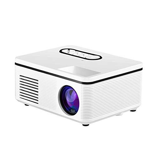 Nologo Convenience El Nuevo proyector casero S361 Mini Mini proyector proyectores portátiles de Apoyo 1080p HD LED (Size : White)