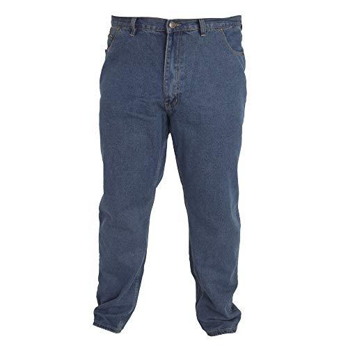 Duke - Pantalón cómodo Modelo Rockford Tallas Grandes para Hombre (117 cm Regular) (Efecto Lavado)