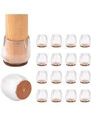 16 protectores de silicona para patas de silla de mesa, tapas de patas de goma, almohadillas antideslizantes para muebles, cubiertas de mesa, protectores de suelo de madera para patas de muebles
