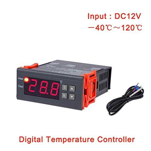 Topker MH1210A DC 12 V Thermostat Regler Digital LCD Kühlschrank Temperaturregler Thermoelement Controller mit Sensor