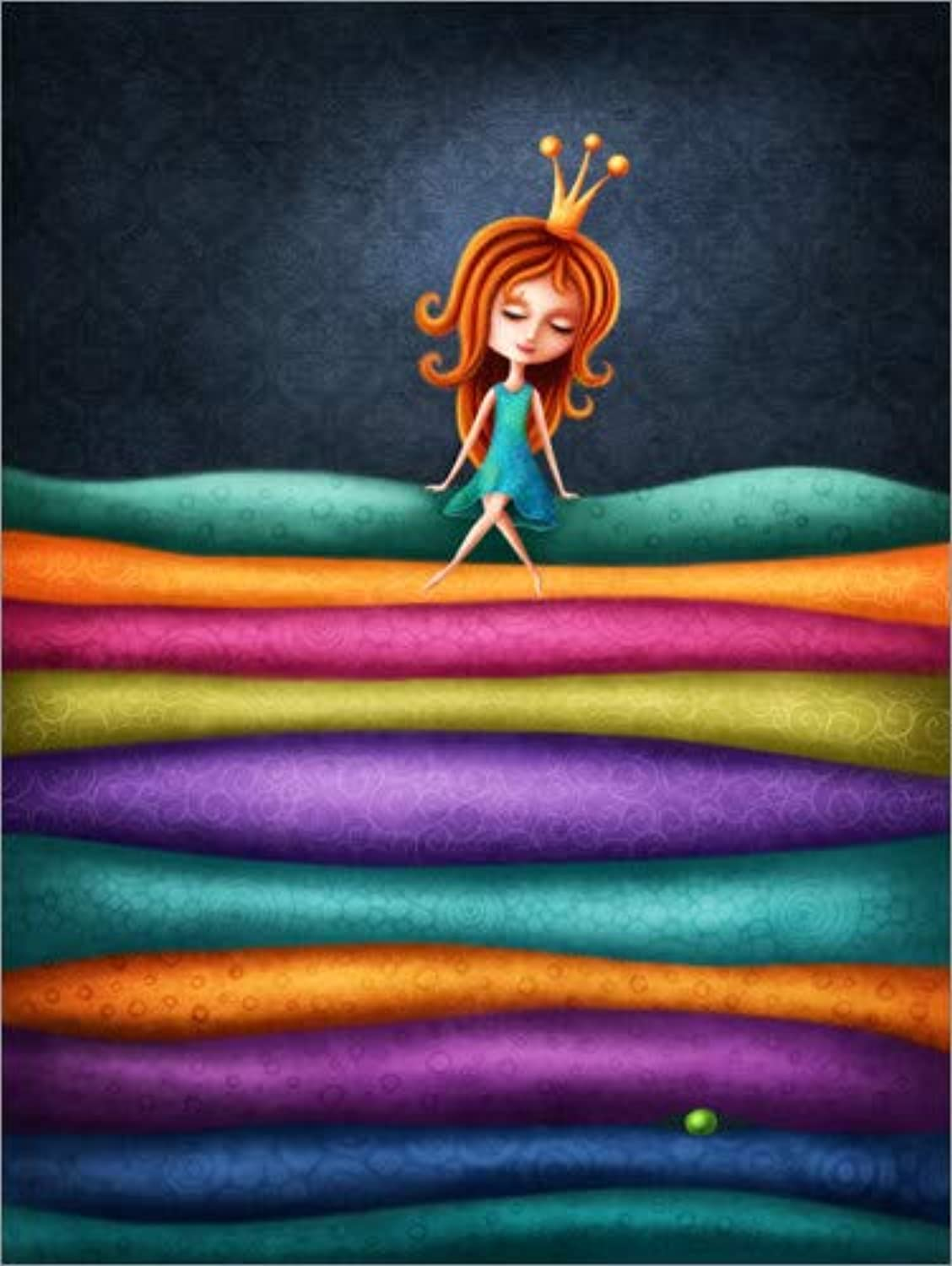 Posterlounge Acrylic print 90 x 120 cm  The Princess and the Pea by Elena Schweitzer