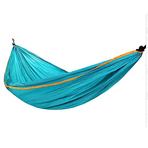 INTER FAST Camping Hammock-Portable-Outdoor, Hiking, Backpacking, Traveling,Beach,Garden-260cm(8.5foot) x140cm(4.6foot)-Blue