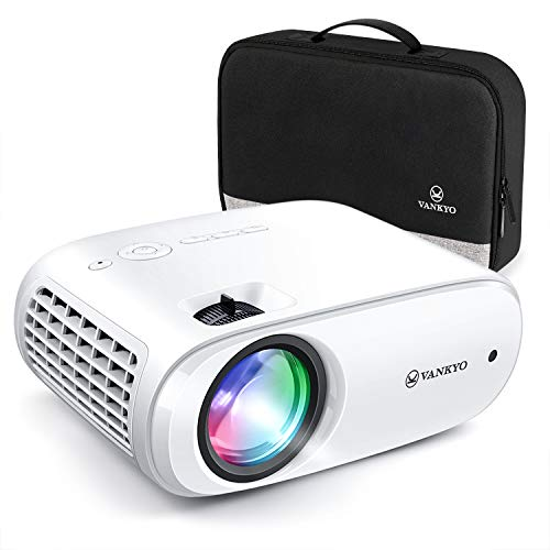 VANKYO Cinemango 100 Mini Projector, Portable Movie Projector with 1080P Supported, 220'' Display, 55,000 Hours LED Lamp Life, Compatible with HDMI/TV Stick/TV Box/ PS4 for Home/Outdoor Entertainment