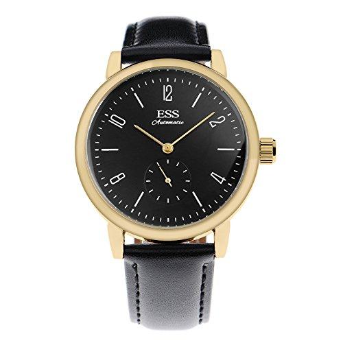 ESS Herren Selbstaufzug mechanische Uhr Automatik Uhren Geschäft Uhren golden