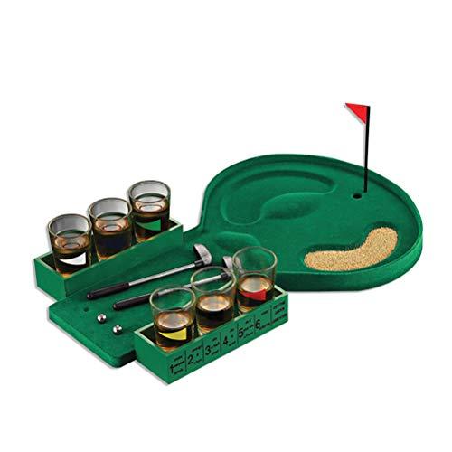 BSTQC Juego de mesa de golf para beber, mini juego de golf de mesa de entretenimiento, mesa de golf, fiesta de beber, cerveza para hombre adulto juguetes de golf