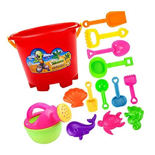 POPETPOP 13Pcs Crianças Areia Da Praia Balde Brinquedos Do Jogo Brinquedos Castelo De Areia de Plástico Crianças Pá Regador de Areia Brinquedos Parágrafos Crianças Verão Presentes