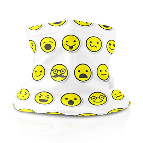 Neck Gaiter Face Cover Emoji Pattern Headwrap Balaclava Solar Covering Shield